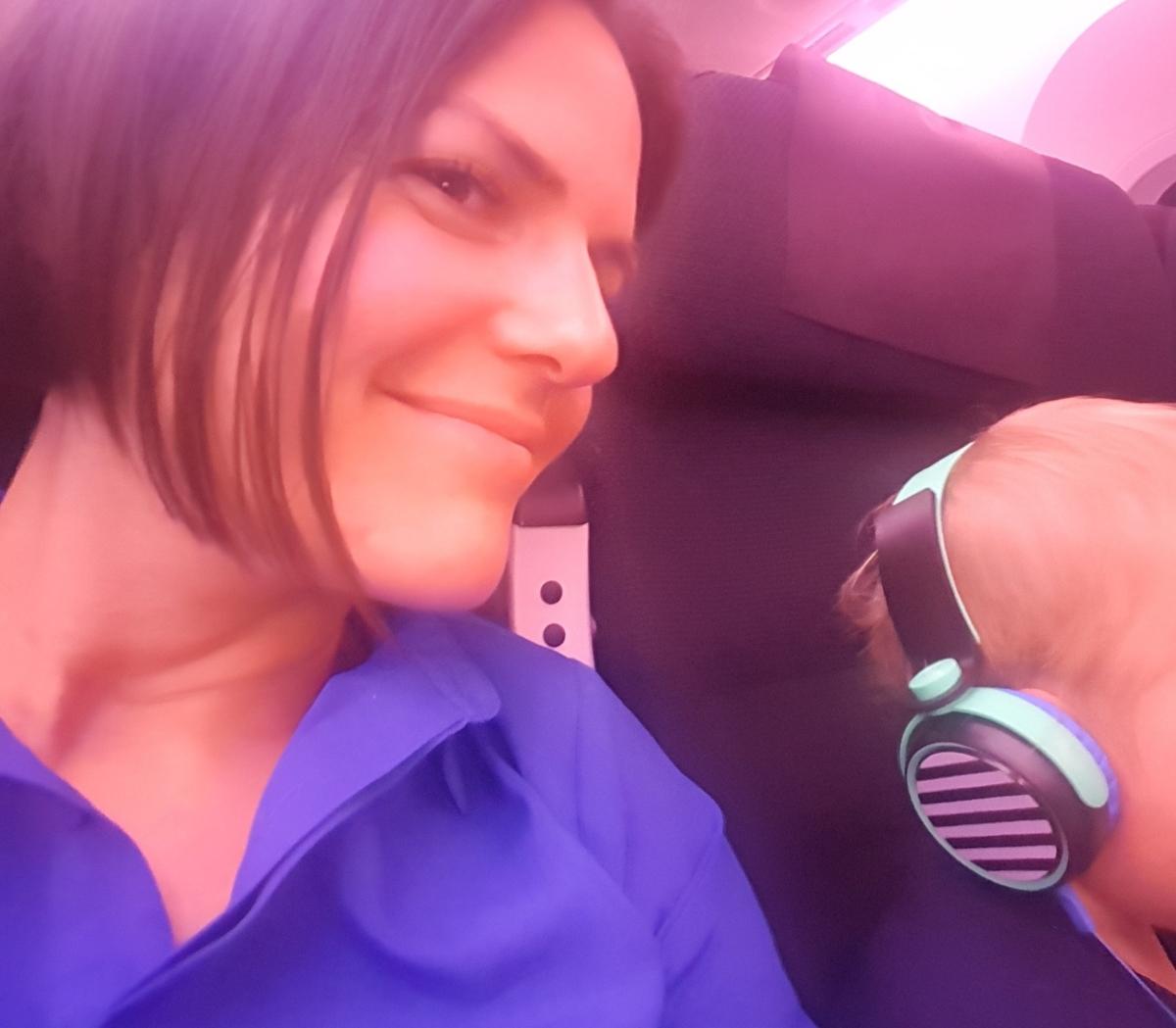 Eva on the Plane